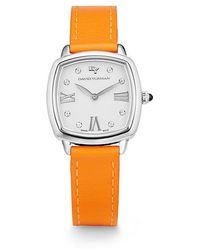 David Yurman - Albion 27mm Leather Swiss Quartz Watch In Orange - Lyst