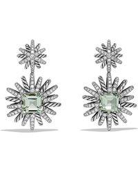 David Yurman - Starburst Drop Earrings With Prasiolite And Diamonds - Lyst