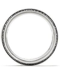 David Yurman - Streamline Beveled Edge Band Ring With Black Diamonds, 8.5mm - Lyst