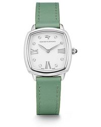 David Yurman - Albion 27mm Leather Swiss Quartz Watch In Turquoise - Lyst