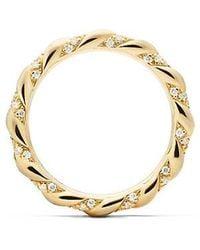 David Yurman - Dy Unity Wedding Band With Diamonds In 18k Gold, 2.6mm - Lyst