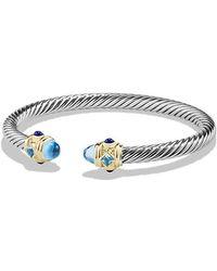 David Yurman - Renaissance Bracelet With Blue Topaz, Lapis Lazuli And 14k Gold, 5mm - Lyst