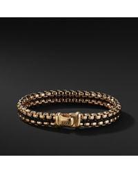 David Yurman - Woven Box Chain Bracelet In Black And 18k Gold - Lyst
