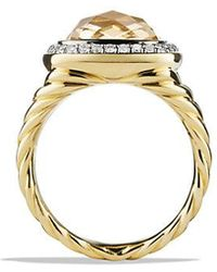 David Yurman - Albion® Ring With Champagne Citrine And Diamonds In 18k Gold - Lyst