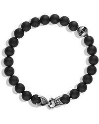 David Yurman - Spiritual Beads Bracelet With Black Onyx And Black Diamonds, 8mm - Lyst