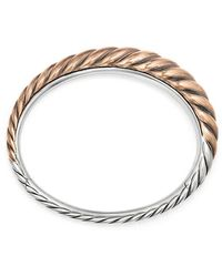 David Yurman - Pure Form® Mixed Metal Cable Bracelet With Bronze And Silver, 9.5mm - Lyst