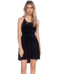 Free People Night Shade Mini Dress - Lyst