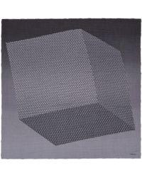 Pierre Hardy Black Cube Inkjet Degrade Cashmereblend Scarf - Lyst