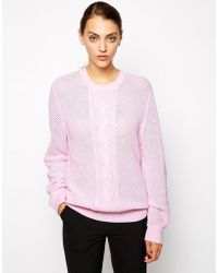Antipodium Central Line Sweater - Pink
