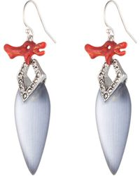 Alexis Bittar Coral Deco Coral Drop Earring - Lyst