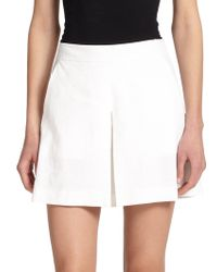 Theory Taminara Crunch Pleated Skort white - Lyst