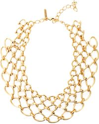 Oscar de la Renta Twisted Rope Necklace gold - Lyst