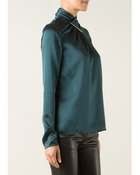 Jason Wu Forest Green Silk Top - Lyst