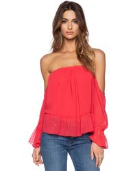T-bags - Long Sleeve Off The Shoulder Top - Lyst