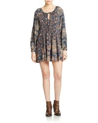 Free People Lucky Loosey Printed Dress - Lyst