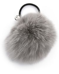Eugenia Kim Antonia Fur Hair Tie - Grey - Lyst