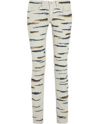Isabel Marant Orson Embroidered Skinny Jeans - Lyst
