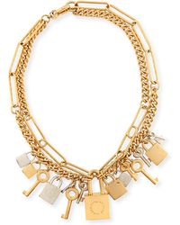 Marc By Marc Jacobs - Lock And Key Necklace - Lyst