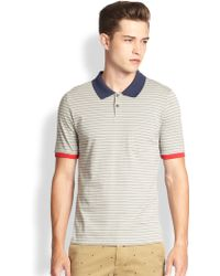 Band Of Outsiders Yarn-dyed Striped Cotton Polo - Lyst