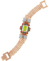 Mawi - Rose Gold-Plated Swarovski Crystal and Faux Pearl Bracelet - Lyst