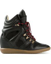 Isabel Marant 'Buck' Hi-Top Sneakers - Lyst