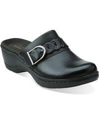 Clarks Hayla Titan Leather Clogs - Lyst