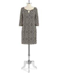 Laundry by Shelli Segal Bell Sleeved Shift Dress - Lyst
