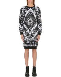 Ktz Astro Print Sweatshirt Dress Black - Lyst