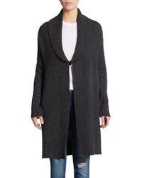 Catherine Malandrino Shawl Wool & Cashmere Cardigan gray - Lyst