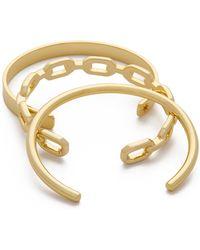 Kacey K - Kk Strength Bracelet Set - Gold - Lyst