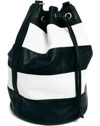 Asos Striped Duffle Bag - Lyst