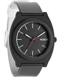 Nixon The Time Teller P Black White Fade Watch - Lyst