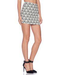 Alice + Olivia Elana Mini Skirt - Lyst