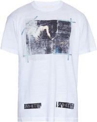 Off-White c/o Virgil Abloh - Caravaggio Annunciation-print Cotton T-shirt - Lyst