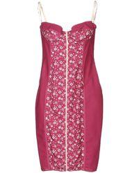D&G Sleeveless Floral Print Knee-Length Dress - Lyst