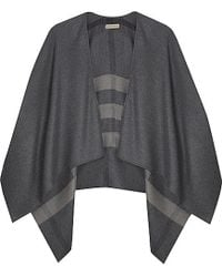 Burberry Solid To Check Cape - Lyst