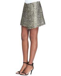 Suno Golden Swirl Asymmetric Wrap Skirt - Lyst