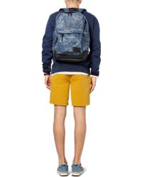 Saturdays NYC - Greg Printed Cottoncanvas and Leather Backpack - Lyst