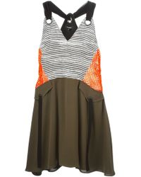 Damir Doma Dinira Silk and Cotton-Blend Dress black - Lyst