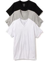 Calvin Klein 3 Pack V Neck Tshirts - Lyst