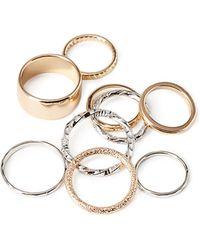 Forever 21 Textured Midi Ring Set - Lyst