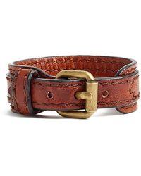 Frye - 'michelle' Leather Bracelet - Cognac - Lyst