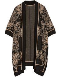 Anna Sui Arcadia Intarsia Wool-Blend Kimono - Lyst