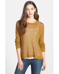 Eileen Fisher Organic Linen Boxy Sweater - Lyst