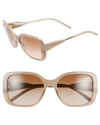 Burberry 'Trench Knot' Square Sunglasses brown - Lyst