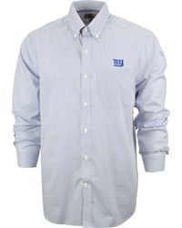 Cutter & Buck Men'S New York Giants Tattersall Dress Shirt - Lyst