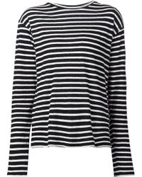 R13 Long Sleeve Striped T-Shirt - Lyst