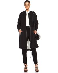By Malene Birger Ink Poly-blend Coat - Lyst