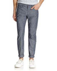 Vince Slim-Fit Denim Pants - Lyst