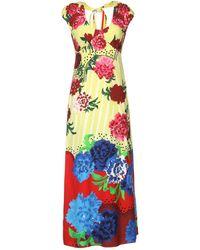 Marc Jacobs Green Long Dress - Lyst